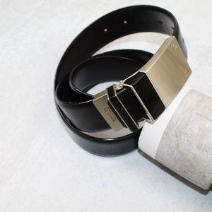 Kenneth Cole Reaction Men's Black Leather Belt 36